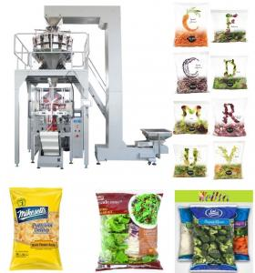 China PLC Control Automated Packing Machine / Vertical Form Fill Seal Packaging Machine Speed 5 - 60 Bags / Min on sale
