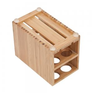 China high quality bamboo toothbrush holder using for bathroom with cheap price on sale