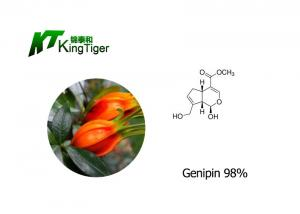 China Pure Natural 98% Genipin Effectively Reduce Internal Heat Reduce Blood Pressure on sale