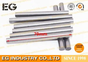 China 0.25 OD X 12 L Fine Extruded Graphite Rod , Low Ash Graphite Round Bar on sale
