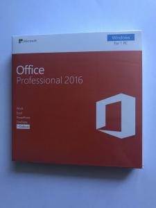 China Microsoft Office Products Key Card Standard DVD Office 2016 Professional Retail on sale