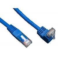 China 90 Degree RJ45 Angled Cat 6 Network Cable ABS Plug Material For Telecom Communication on sale