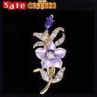 брошь Enamel Flower Brooch for Women,броши Crystal Rhinestone Collar Clip Brooch Wholesale