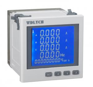 China Microprocessor Multifunction Energy Meter2 Ways Energy Pulse Output on sale