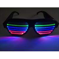 China New Style Voice-Activated LED glasses Sound activated shutter led flashing glasses with USB charger led sunglasses on sale