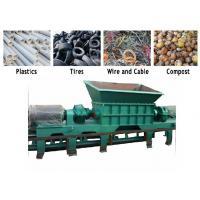 PC Auto Control Waste Pvc Shredder Machine / PVC Crusher Machine Twin Shaft
