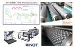 Arreglo para requisitos particulares de la máquina de la película de la burbuja de aire del vendedor de Vinot para Japón con el modelo material no DY-2000 del LDPE de diverso tamaño