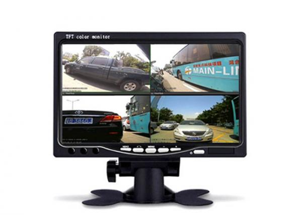 "7/"" Car Quad Split CCTV LCD Monitor Screen 4 Display Built-in UK"