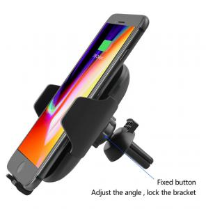 China Qi Wireless Car Charger Car Mount Air Vent Phone Holder Cradle Wireless Charger Fast Wireless car charger on sale