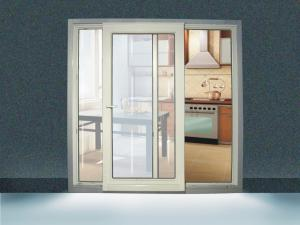 China double-sliding PVC extrusion door PVC Windows And Doors Single glazed 88mm on sale