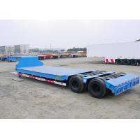 Swivel Axles Low Bed Semi Trailer For Heavy Machine Transport 30T-150T