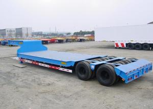 China Swivel Axles Low Bed Semi Trailer For Heavy Machine Transport 30T-150T on sale
