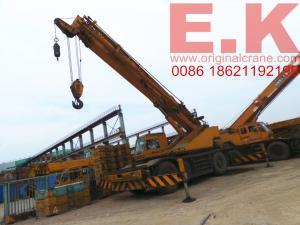 China Right Hand Drive Japanese kato 45ton rough terrainc crane truck crane (KR45H-IIIL) on sale