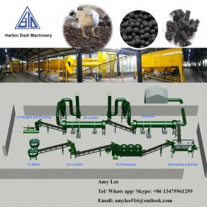 China 1 Ton/ hour Chicken manure organic fertilizer production line/fertilizer plant on sale