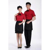 customized Shirt Western Hotel Staff Uniforms For Men And Women With Waist Apron