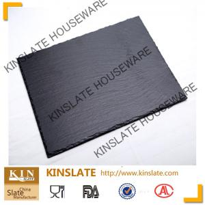 China stylish black natural 20cm*30cm rectangular slate cheese board  for tableware on sale