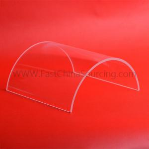 China Custom Length Quartz Glass Tube cut to size, Transparent Clear Fused Silica Half Tube for high-temperature smokeless on sale