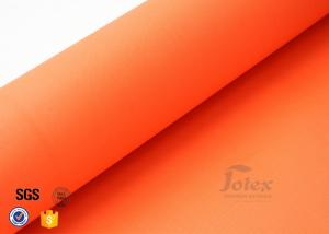 China Orange 7.7oz 0.25mm Acrylic Coated Fibreglass Fabric Plain Weave Heat resistance on sale
