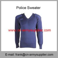 China Wholesale Cheap China Army Navy Blue Military Sweater With Elbow Shoulder Patch on sale