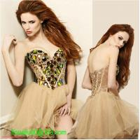 China HOT SALES black/golden sexy short prom dress 2014 sweetheart ball gown with big diamond vestidos de fiesta on sale