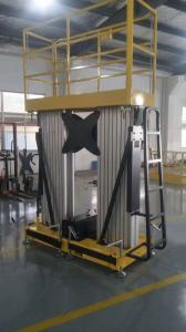 China 12M Extendable Motorized Wheel Double Mast Mobile Elevating Work Platform on sale