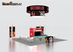 China Fashion Backlit Trade Show Booth Display Stands 10x10 Portable Exhibition Systems on sale