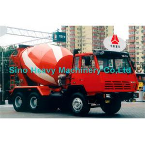 China Sinotruk STEYR Diesel Concrete Mixer Trucks 375hp 130hp , 8 Cubic Meters on sale