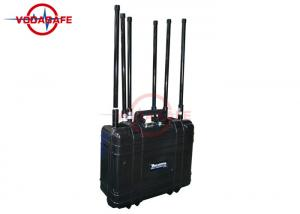 China 6 Frequencies Anti Drone Jammers , Drone Communication Jammer Easy Transportation on sale