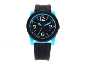 China Lovely Fasion Analog Quartz Lady Wrist Watches PU Strap / ABS Plastic Case on sale