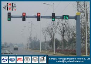 China Hot Dip Galvanized Single Arm Traffic Signal Light Pole for Commercial Areas on sale