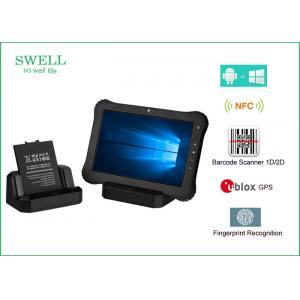 China 10 Inch Android / Window 10 Pro 32GB 3G 4G Rugged Waterproof Tablet With NFC Scanner on sale