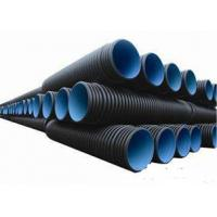 China SN4 18 Inch 1mm Wear Resistant Pipes , HDPE Double Wall Corrugated Pipe on sale