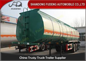Quality Tri d'axe de carburant de bateau-citerne remorque semi 45000 litres avec de l for sale