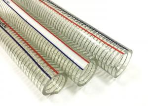 China Non Toxic PVC Steel Wire Hose Flexible Transparent Hose / Pipe ROHS Approved on sale