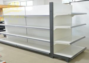 China Double Side Commercial Steel Racks Hypermarket, Slanted Arms Cold Rolled Steel on sale