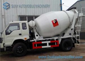 China Sino Mini Concrete Mixer Truck 3 Cbm HOWO , 80 km / h Max Speed on sale