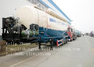 China CCC ISO Approval Concrete / Bulk Cement Pump Trailer SHENGRUN 3 Axle 45m3 on sale