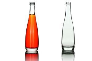 China 300ml Empty Glass Wine Bottles , Glass Beverage Bottles Unique Design on sale