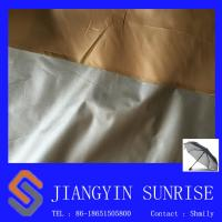 Waterproof 100% Polyester Fake Leather Fabric For Rain Gear /  Tent