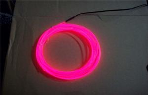 China High Luminance Lighting EL Wire Pink / Neon Glowing Strobing Electroluminescent Wire on sale