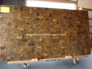 China Brown Iron Tiger Eyes Slab panel on sale