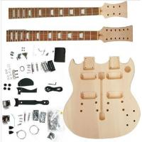 China Polished Body DIY Electric Guitar Kits Double Head / Neck Electric Guitar AG-DN1 on sale