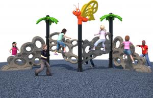 China Plasitc Climbers Freestanding Playground Equipment Kids Free Standing Slide CE Certification on sale