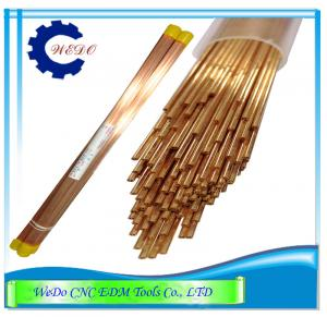 China 1.0x400mmL Double Hole EDM Eletrode Pipe / Copper Tube For EDM Drill Machine on sale