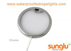 China 4W Chrome Finish Hand Waving Activated Under Cabinet Lighting , LED Puck Light on sale