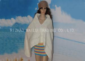 China V Neck Warm Alpaca Girls Crochet Poncho Two Color Triangel Shape Crochet Cape on sale