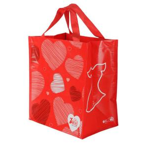 China Reusable Laminated Shopping Bags Non Woven Polypropylene Tote Bags Pantone Color on sale