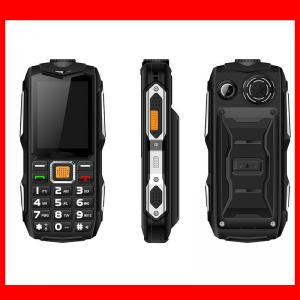China New Wholesale OEM 2.4 Screen Rugged Waterproof Feature Mobile Phones With Big Battery Power Bank Loud on sale