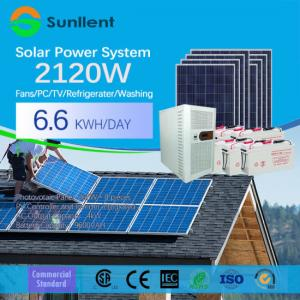 China Best 2KW Rated Batetry Backup Power Supply Pure Sive Wave Inverter Off Grid Solar Panel System on sale