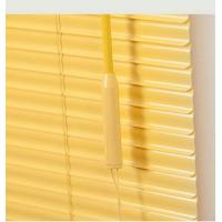 Yellow PVC Venetian Window Blinds Glossy With Headrail / Bottomrail